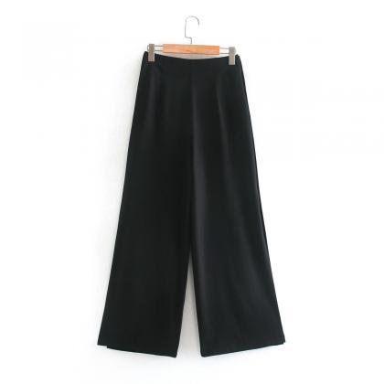 2020 women's new casual pants black..