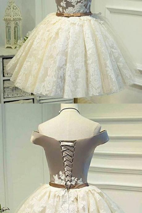 Sleeveless Ivory Homecoming Prom Dresses Fetching Short A-line/Princess Bandage Lace Up Dresses