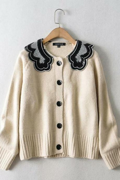 2020 Autumn wool and Mohair women's cardigan