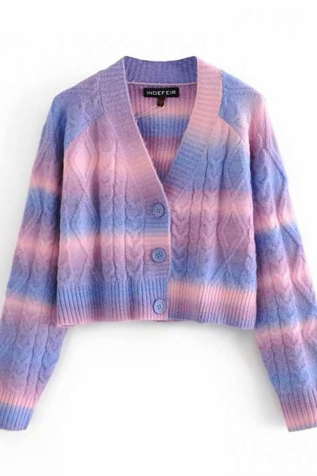 Autumn women's sweater knit cardigan