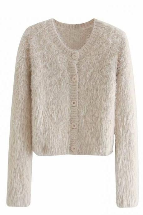 autumn row buttoned-down women's cardigan
