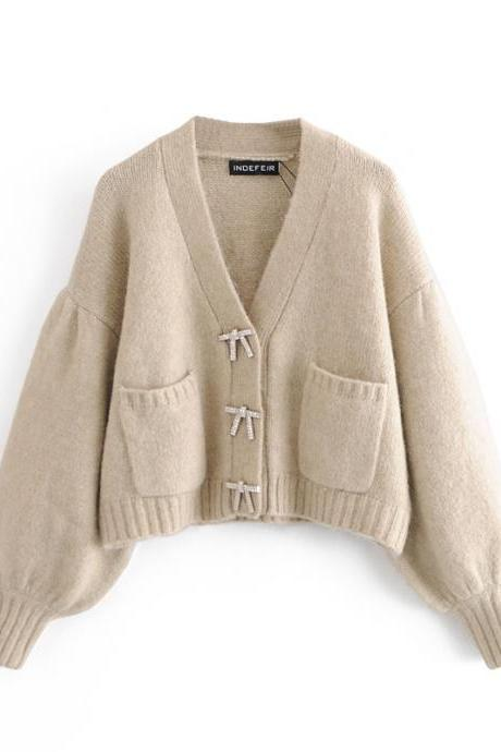 Autumn women's cardigan sweater sweater coat