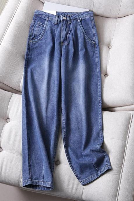 2020 Fall Daddy jeans casual pants for women