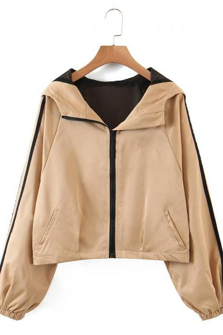 Loose casual jacket for women in fall goes with Fried street