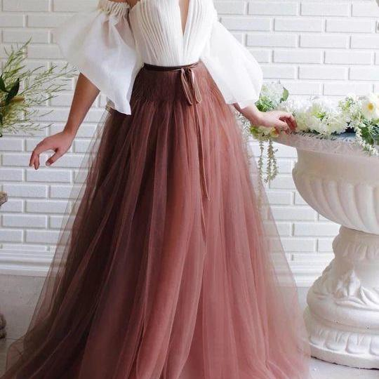 off shoulder Formal Prom Dresses dress A-line party dress Beads Celebrity Party Gowns Dubai tulle Sweep Train Evening Dress